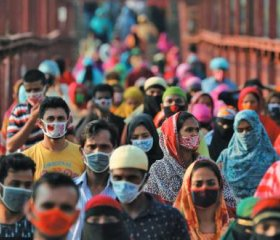 Back to work: garment workers in Dhaka, Bangladesh, after factories re-opened in May. Mohammad PonirHossain/Reuters