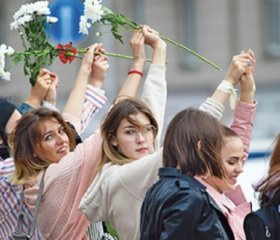 NataliaKaliadaon the women rising up against Alexander Lukashenko.