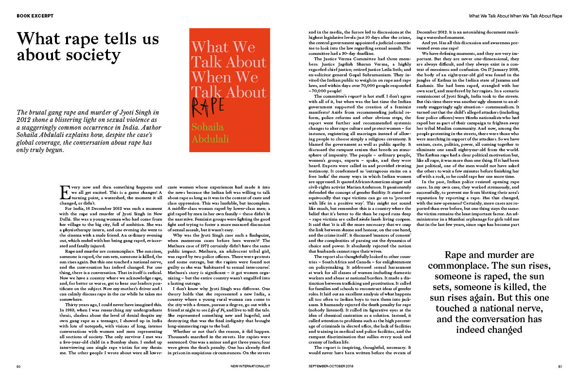 Sample spread of our relaunch issue: Book Excerpt