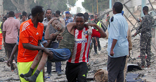 14 October 2017 Mogadishu bombings. On 14 October 2017, a massive blast caused by a truck bombing in Mogadishu, the capital of Somalia, killed at least 587 people and injured 316. ... In response to the bombings, Somali president Mohamed Abdullahi Mohamed declared three days of mourning.