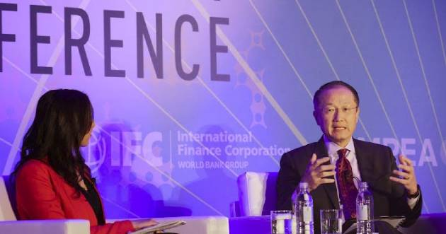 Jim Yong Kim speaking at the IFC's 16th Annual Global Private Equity Conference in association with EMPEA/WikiCommons