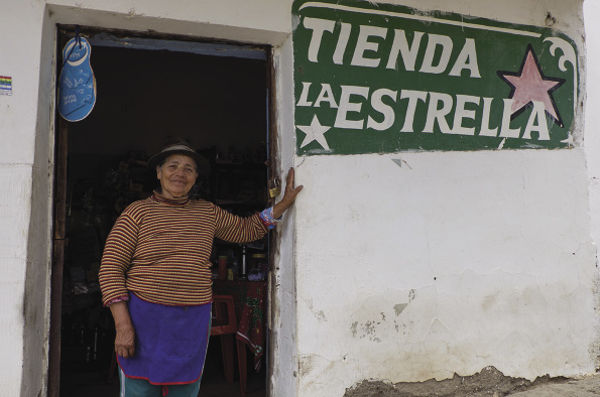 Julia Cortez, who worked as a schoolteacher in La Higuera in 1967 and fed Che, now runs a grocery shop and restaurant in the village.