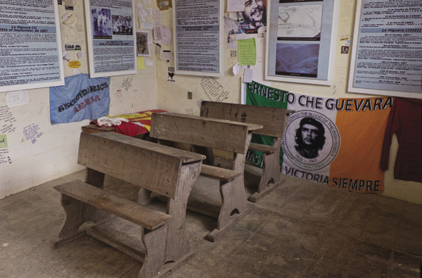 The school in La Higuera where Che was killed after being taken prisoner 50 years ago.