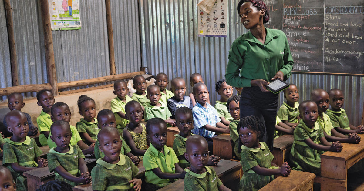 Education by e-book? A Bridge academy in Uganda