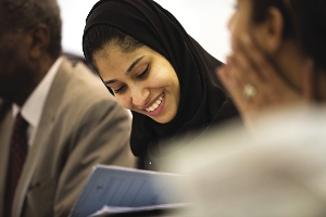 A Bahraini law student – there are more opportunities for women than in neighbouring Saudi Arabia. Alamy/Michael Austen