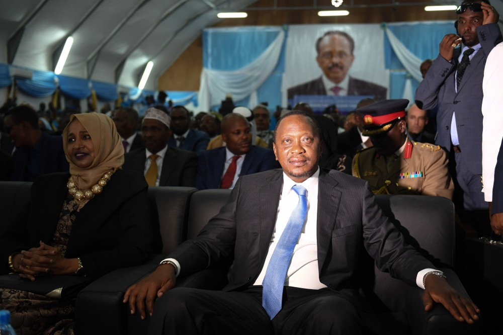 Uhuru Kenyatta, Kenyan president, during the inauguration of the newly elected Somalian president earlier this year.