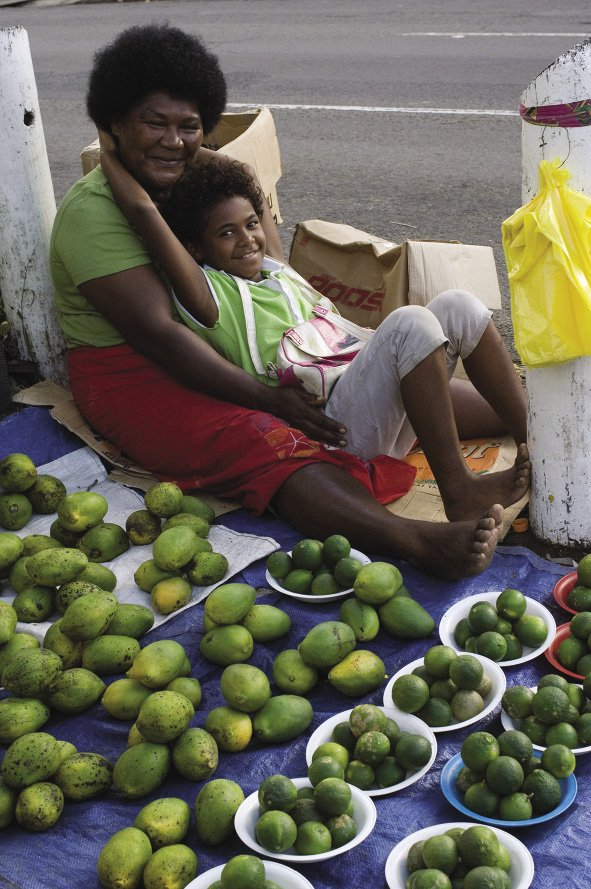 Fiji profile: Selling mangoes by the roadside.