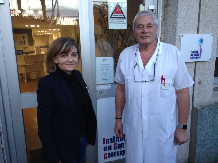 Director Frédérique Martz and surgeon and urologist Dr. Pierre Foldès, co-founders of Women Safe Institute.
