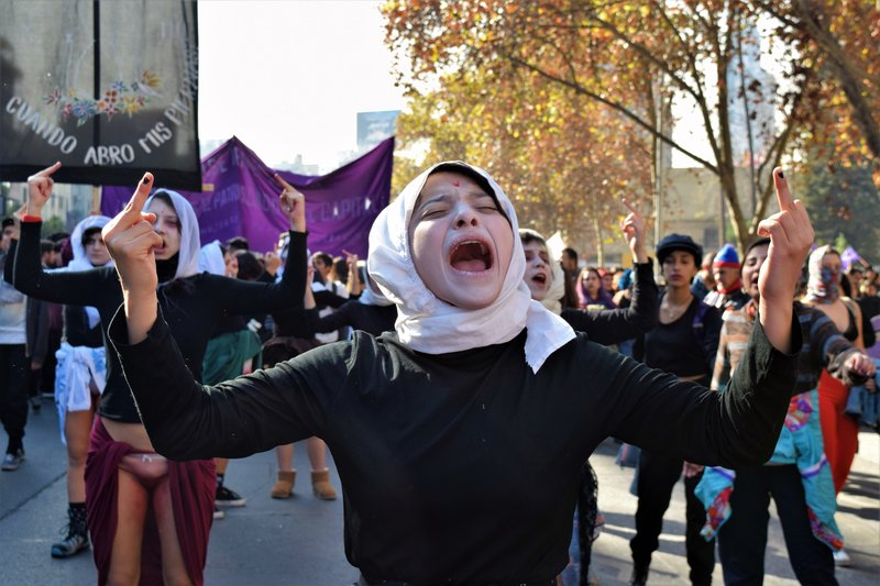 Feminist students have occupied universities across Chile.
