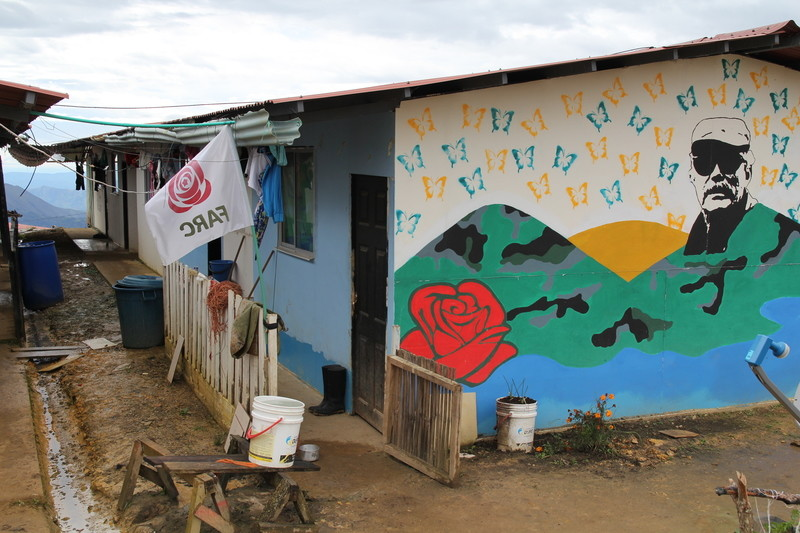 FARC guerillas are worried for their future after the right-wing Duque was elected president. Photo: many guerillas have decorated their homes with murals.