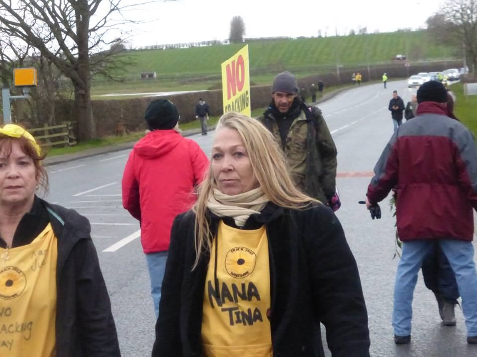 Tina at a fracking protest