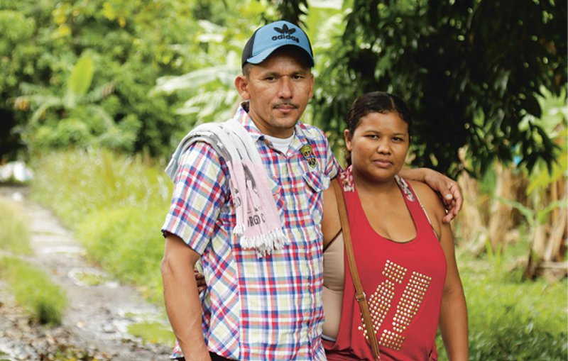 Colombia: Standing firm in the face of threats: Wilson David and Katherine Lazo are excited at the chance to go home
